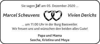 Glückwunschanzeige von Marcel und Vivien  von Zeitung am Sonntag