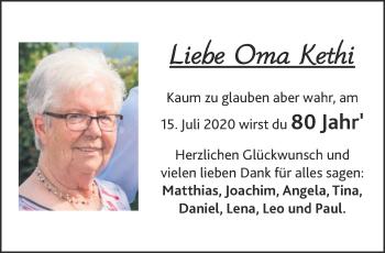 Glückwunschanzeige von Kethi  von Aachener Zeitung / Aachener Nachrichten