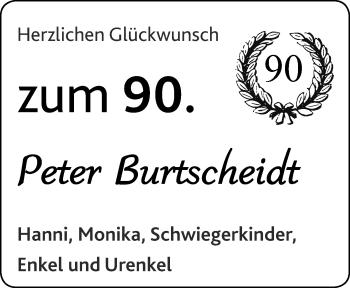 Glückwunschanzeige von Peter Burtscheidt von Aachener Zeitung / Aachener Nachrichten