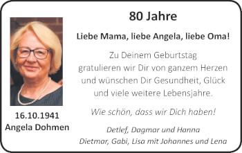 Glückwunschanzeige von Angela Dohmen von Zeitung am Sonntag
