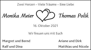 Glückwunschanzeige von Monika und Thomas  von Aachener Zeitung / Aachener Nachrichten