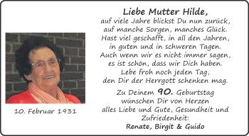 Glückwunschanzeige von Hilde  von Aachener Zeitung / Aachener Nachrichten