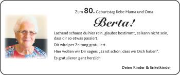 Glückwunschanzeige von Berta  von Zeitung am Sonntag