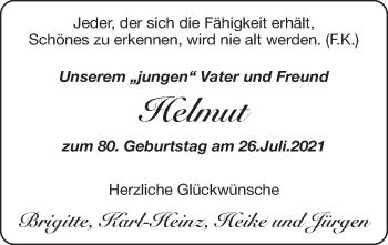 Glückwunschanzeige von Helmut  von Zeitung am Sonntag