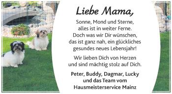 Glückwunschanzeige von Mama  von Aachener Zeitung / Aachener Nachrichten
