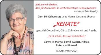 Glückwunschanzeige von Renate  von Aachener Zeitung / Aachener Nachrichten